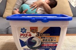 日本Ariel三合一3D洗衣膠囊開箱實測
